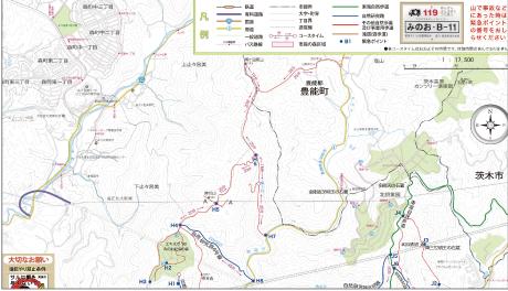 箕面の森の全体マップ